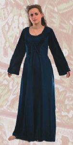 Long Hippy Dress~XXL Size  lace & embroidery detail By Folio Gothic Hippy~398